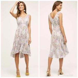 Anthro Tracy Reese Morgan Floral Pleated Dress